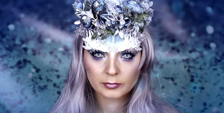 Charakteryzacja Karoliny Zientek wykonana kosmetykami Golden Rose Zimowy makijaż w całości wykonany kosmetykami GOLDEN ROSE