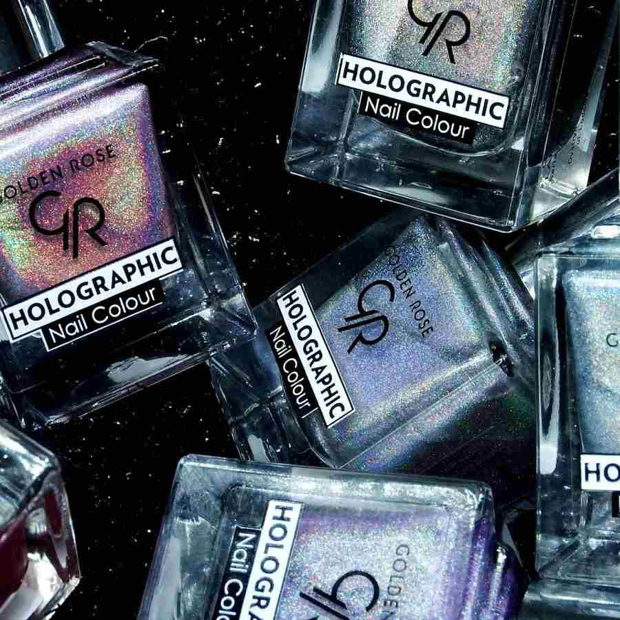 Manicure holograficzny – absolutny hit tego roku od Golden Rose! Zobacz, jaki efekt można otrzymać dzięki lakierom holograficznym!