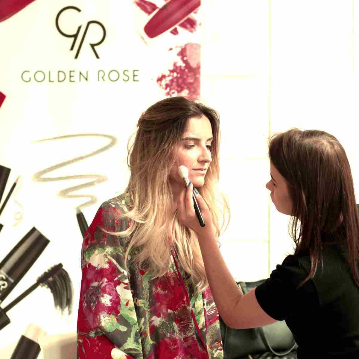 Przygotowania do finału Miss Polonia Województwa Łódzkiego Makijaż Golden Rose